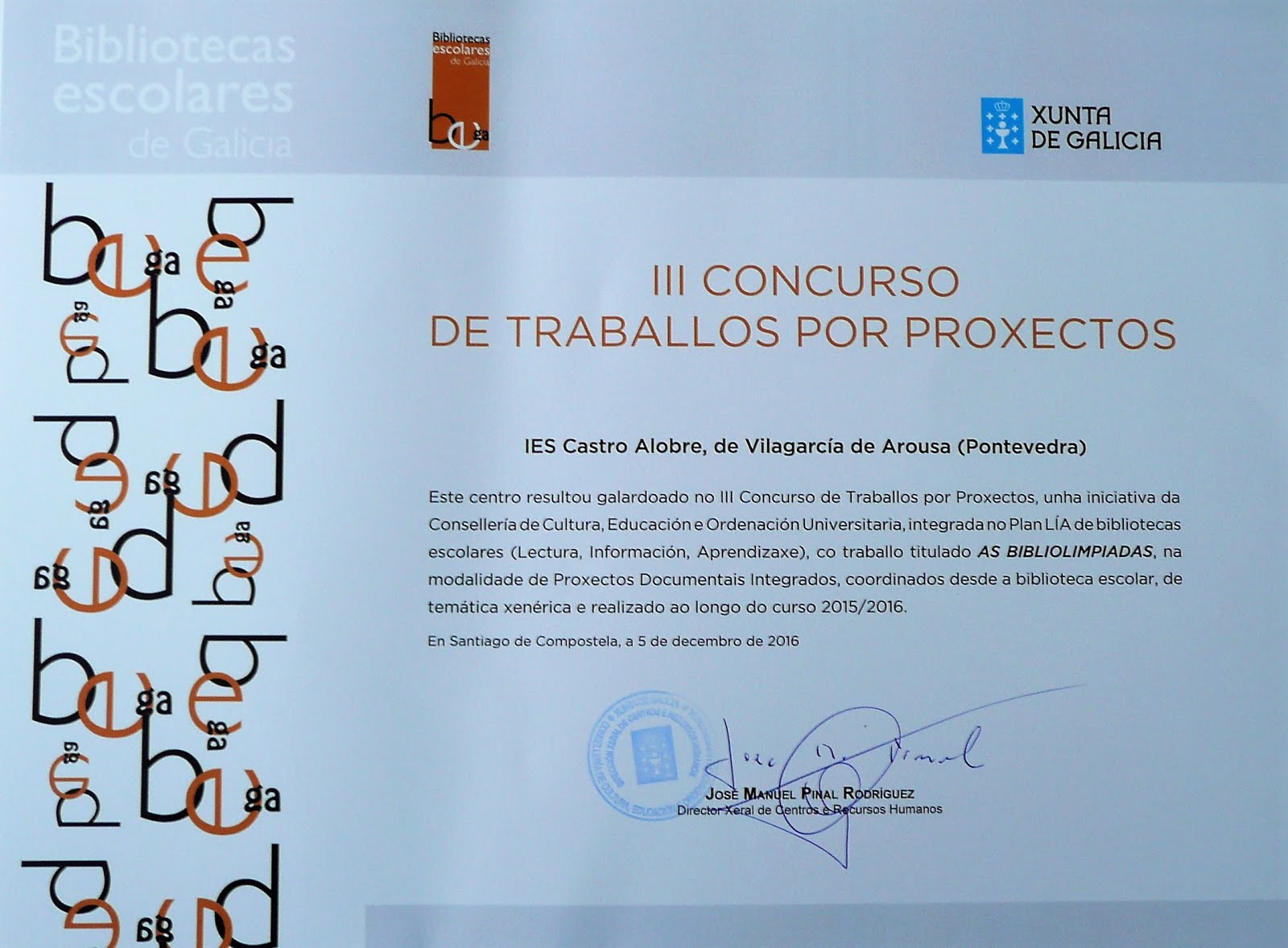 III Concurso de Traballos por Proxectos