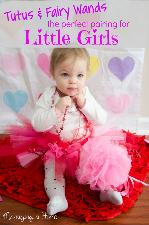 Tutu and Fairy Wand for a little girl. Buy from Pixie Tales Creations. Enter the giveaway at Managingahome.com