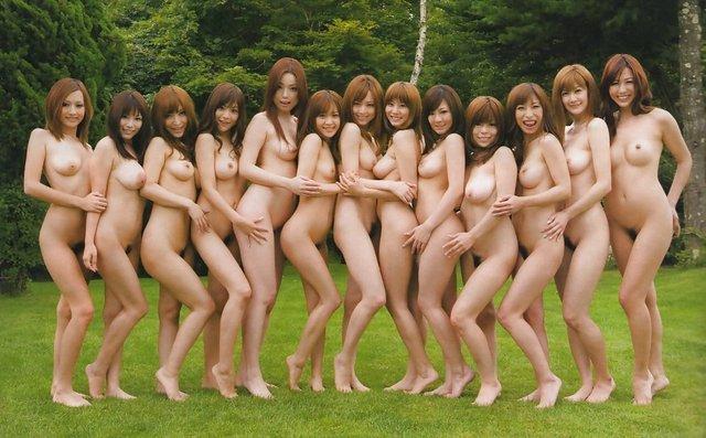 фото голых японский девушек
