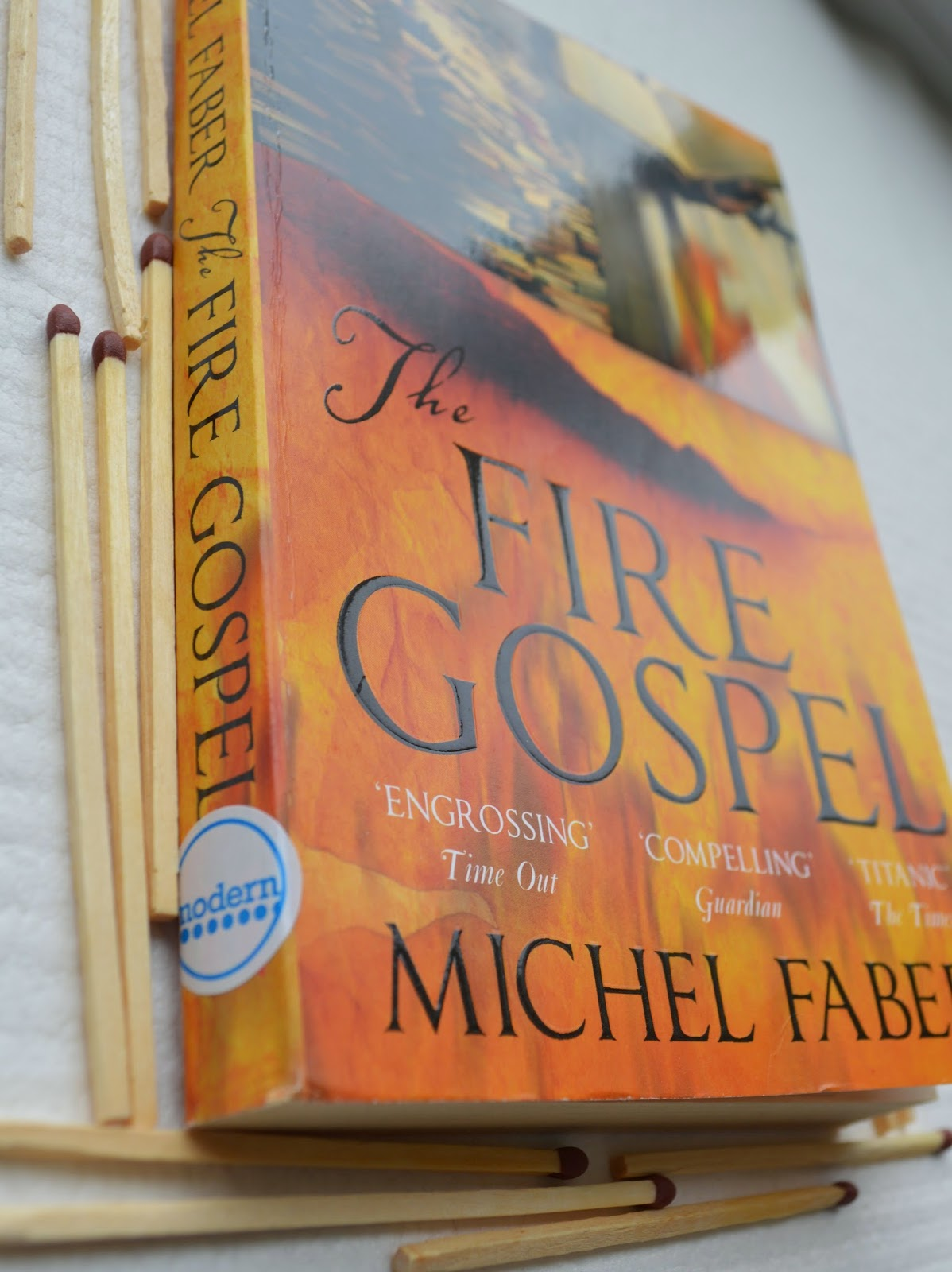 Promethus, Canongate Myth series, Michel Faber, The Fire Gospel, Christian theology, fifth gospel, fiction, novel, UK edition, book cover, review, opinion