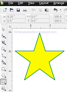 contoh poligon tool pada corelDraw