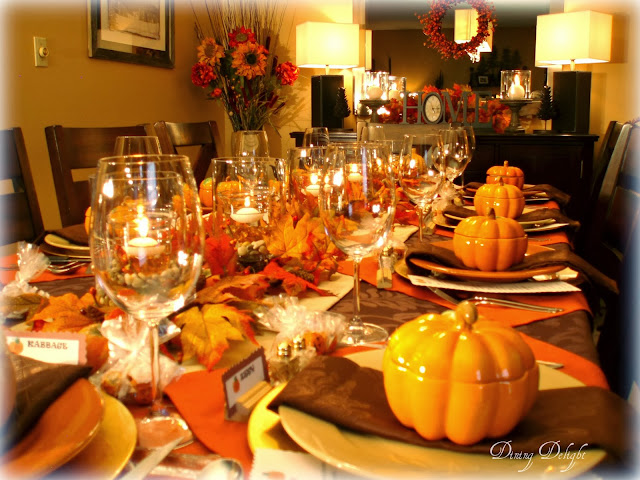 Dining delight fall dinner party for ten How to set a thanksgiving dinner table
