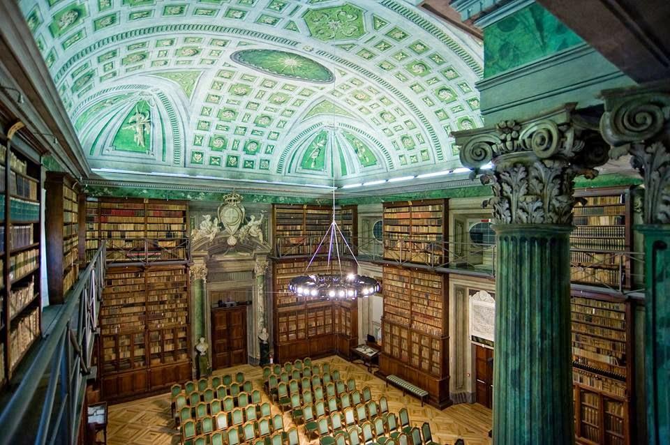 La sala dei Mappamondi dell'Accademia delle Scienze di Torino