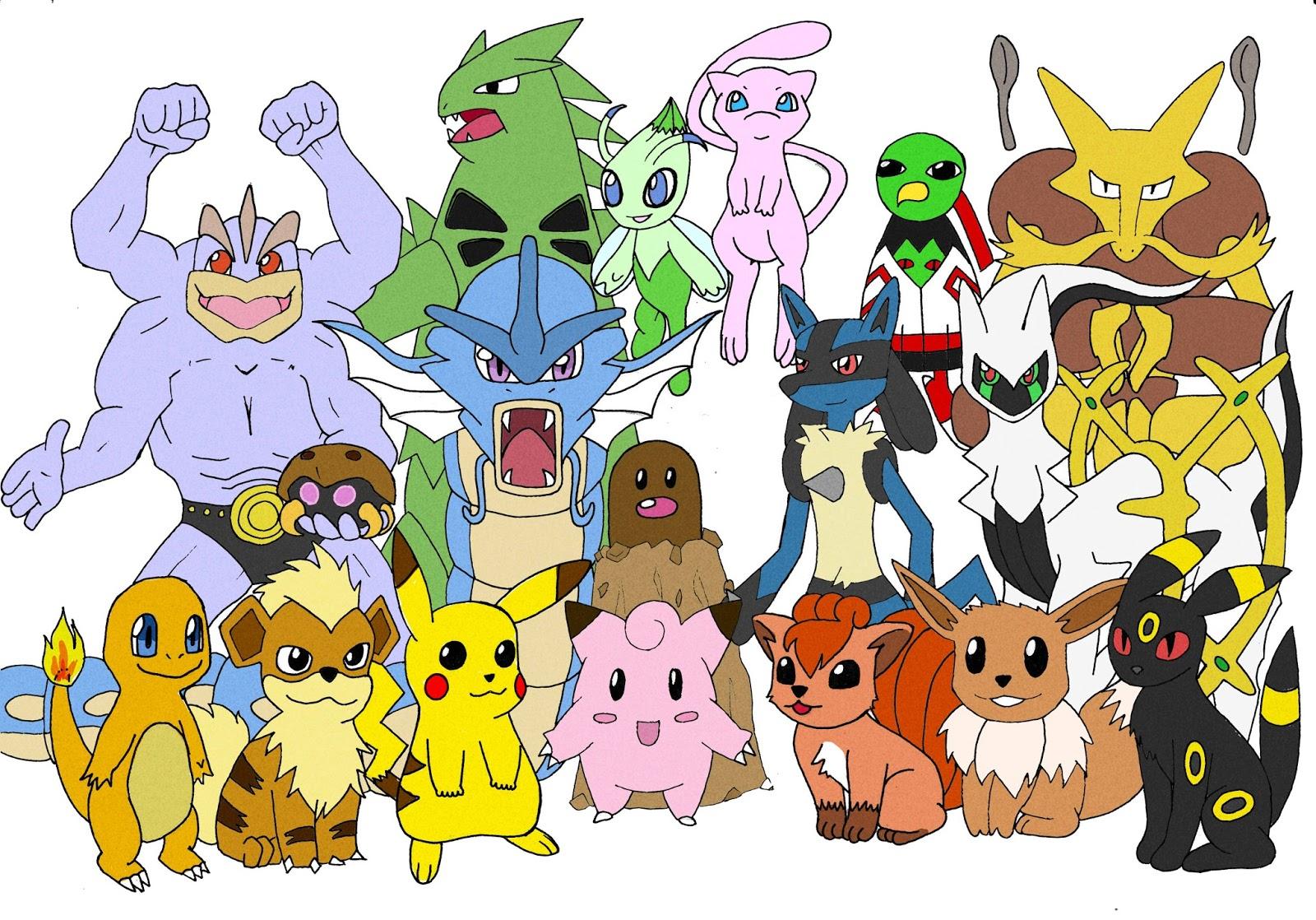 pokemon tegninger med farve