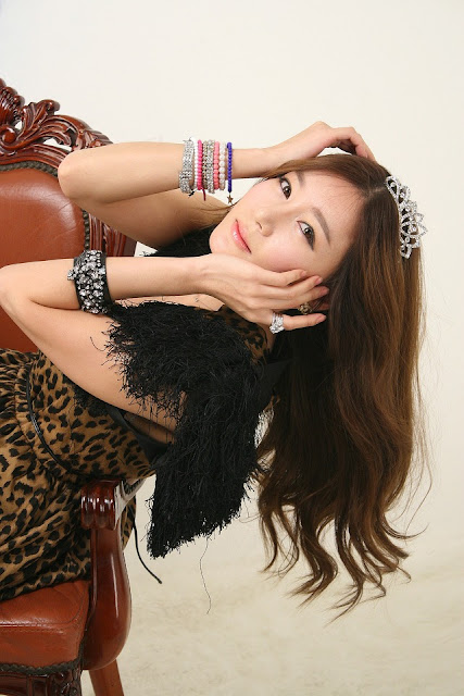 3 Leopard girl - Han Ji Eun-Very cute asian girl - girlcute4u.blogspot.com