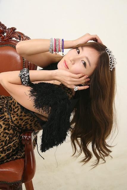 3 Leopard girl - Han Ji Eun-Very cute asian girl - girlcute4u.blogspot.com