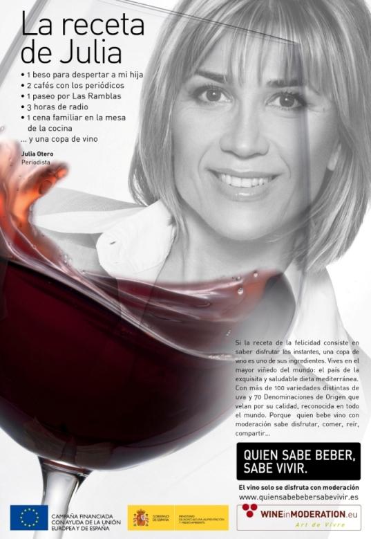 Julia Otero. Quien sabe beber sabe vivir.