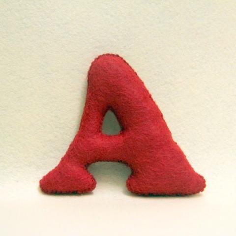 совместный пошив алфавита из фетра