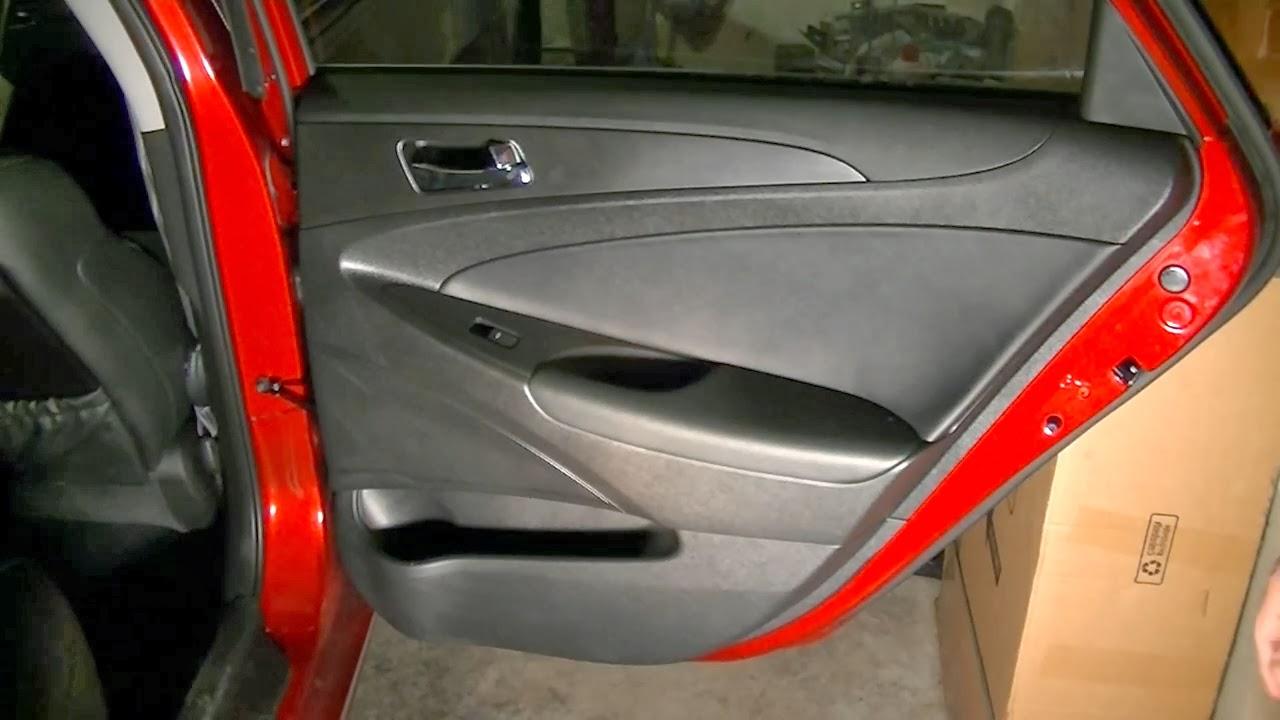 Hyundai Repair How To Hyundai Sonata 2011 2013 Removing The Rear Door Panel Video Diy