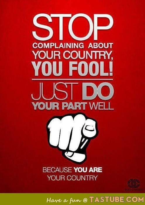 Because you are your country