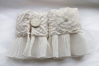 Bridal cuffs, 2, by Queen of Cuffs