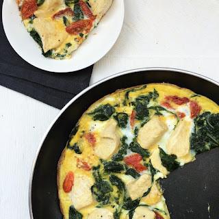 omelette blettes poulet tomates séchées