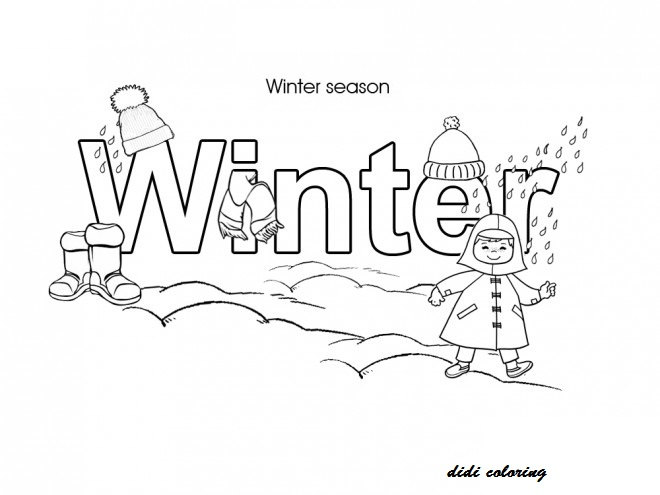 coloring pages seasons - photo#24