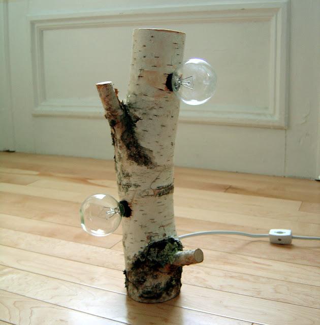 lampa z brzozy drewniane inspiracje diy eco manufaktura
