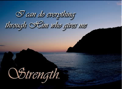 I can do everything through God