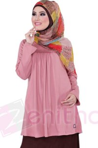 Zenitha Blus Zn116 - Pink (Toko Jilbab dan Busana Muslimah Terbaru)