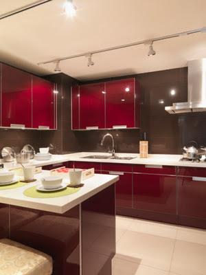 Decoraciones y hogar cocinas color rojo - Cocinas color rojo ...