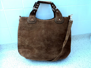Everything 5 Pounds Brown Suedette Bucket Bag