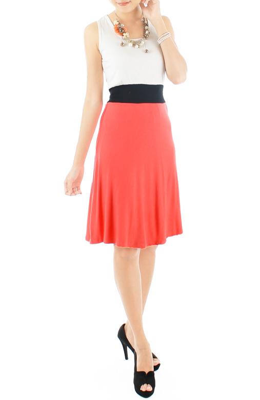 Lady Fleur Flare Dress – Coral