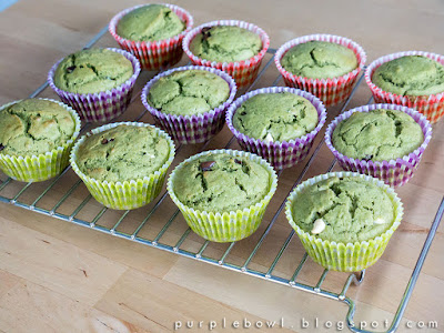 Chocolate chips green tea muffins recipe