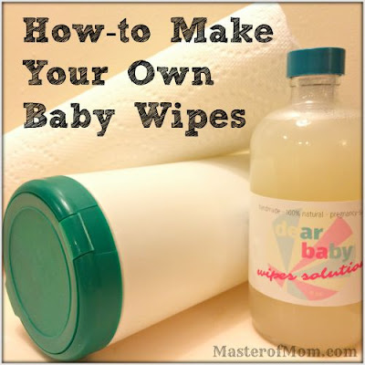 diy baby wipes, make your own baby wipes, homemade baby wipes