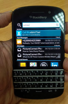 Instant Action BlackBerry Q10
