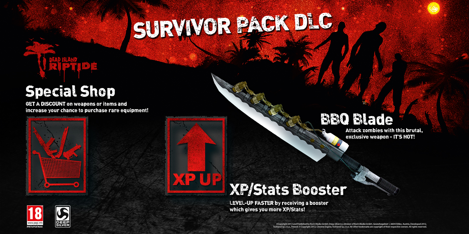 """some heat to a zombie's heart! The so-called """"BBQ Blade"""" lets ..."""