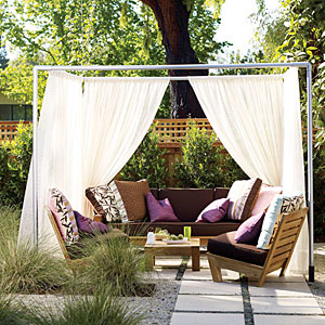 Build A DIY PVC Pipe Cabana From Sunset Magazine