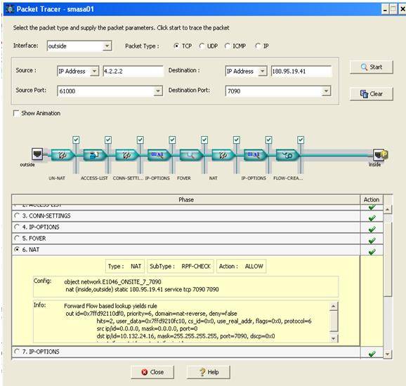 asdm packet tracer interface