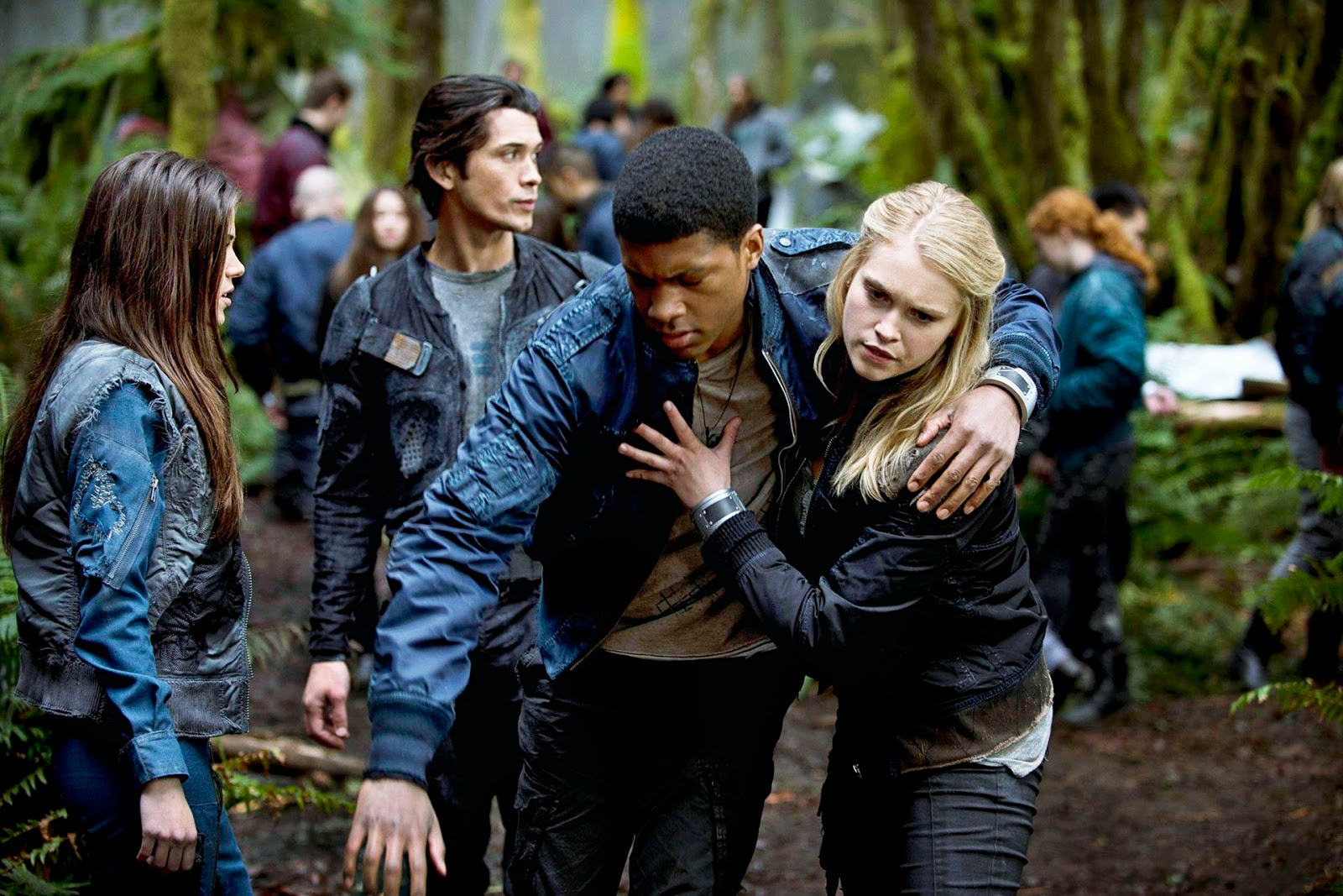 Image result for the 100 clarke helping