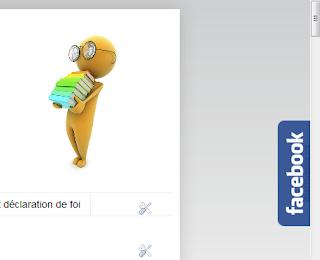 Gadget module social Facebook flottant sur Blogger