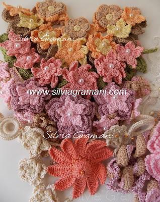 colares de croche, croche, colar, flores de croche