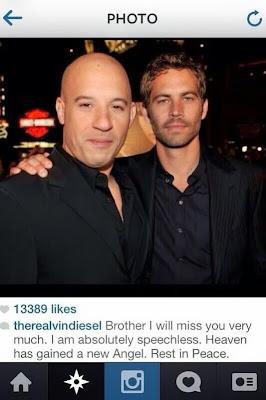Ungkapan Bela Sungkawa Keluarga Fast & Furious Melalui Twitter Atas Kematian Paul Walker