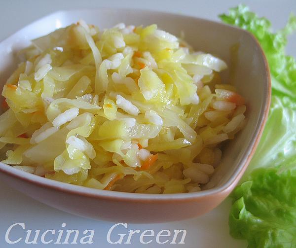 ricetta cavolo cappuccio in padella con riso e patate