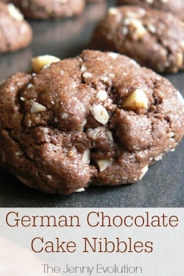 German Chocolate Cake Cookies, shared by The Jenny Evolution