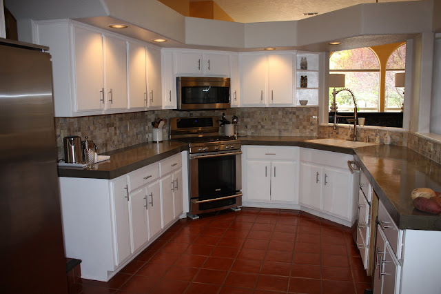 Countertop Dishwasher Craigslist : Remodelaholic Quick Install of Concrete Countertops! Kitchen Remodel ...