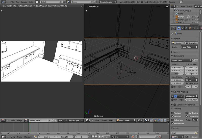 3d render for manga