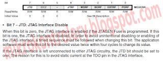 AVR - MCUCSR bit JTD - Wyłączenie  JTAG