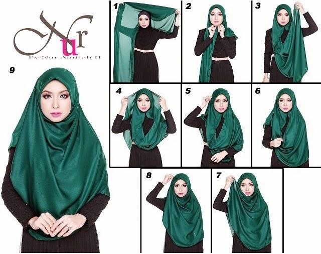 ... tak sesuai pakai macam shawl, boleh try macam tutorial NUR AMIRAH ini