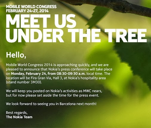 Nokia Sends MWC Press Event Invites for Nokia Android Smartphone Launching