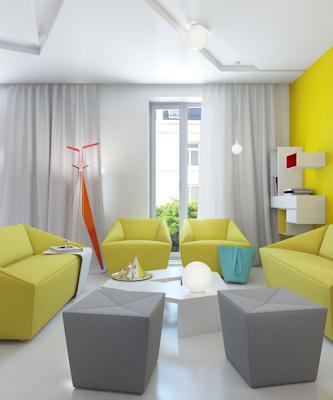 apartamento pequeño colores vivos