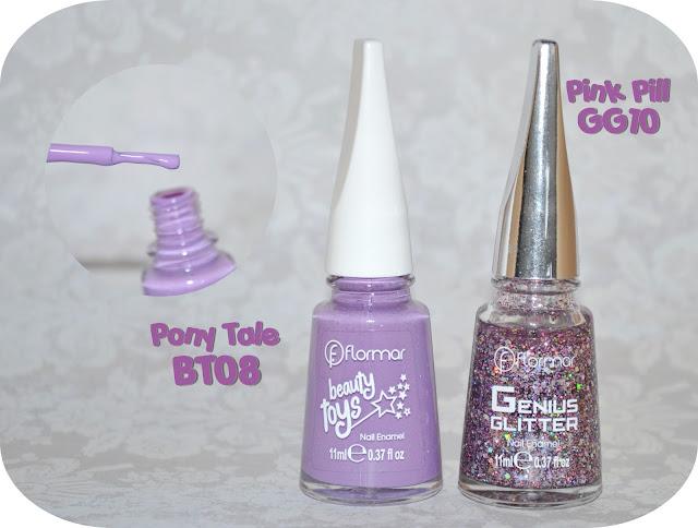 Nail Art Flormar beauty Toys, morado, cupcake, kawaii pony tale bt08 pink pill gg10