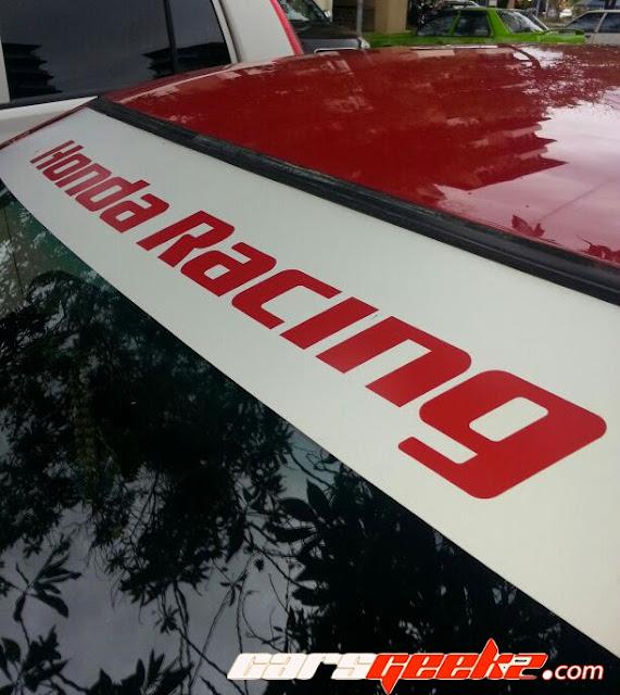 honda racing windscreen vinyl