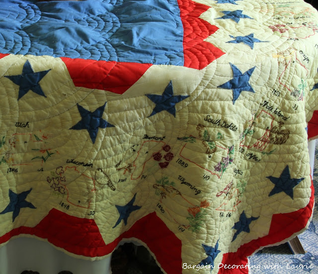 Patriotic Quilt-Bargain Decorating with Laurie
