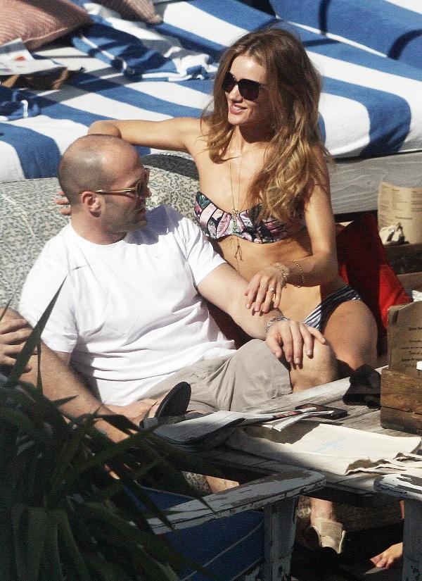 Rosie-Huntington Whiteley shows off skinny body in Miami