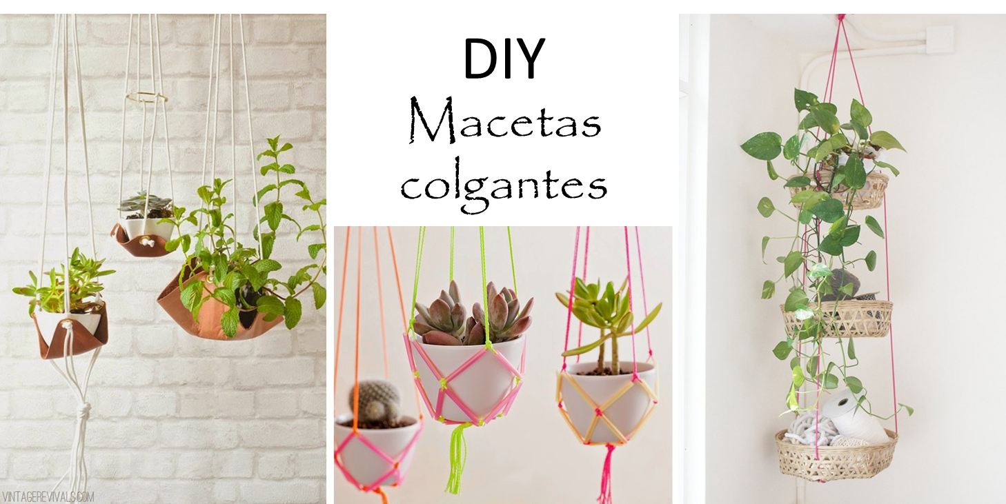 3 tutoriales de maceteros colgantes decorar tu casa es for Maceteros para salon