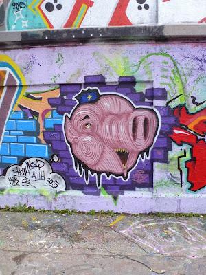 Schweinderl an der Mauer - Tumblingerstraße, München