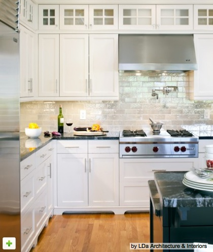 Living livelier loving mother of pearl for Houzz small kitchens