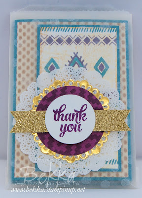 Aztec Inspired Card Collection Using Bohemian Boarders from Stampin' Up! UK