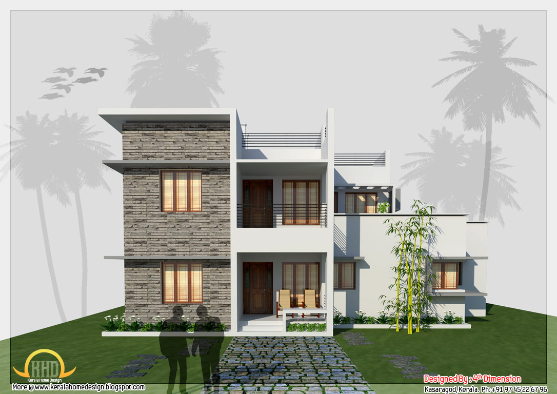 Contemporary home design 2657 sq ft kerala home for Kerala home designs contemporary